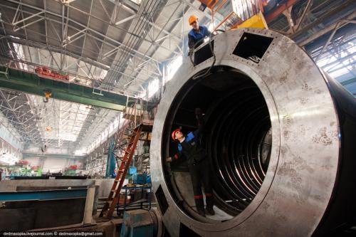 Отправка корпуса статора турбогенератора на механическую обработку