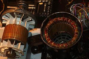 Ротор и статор электродвигателя